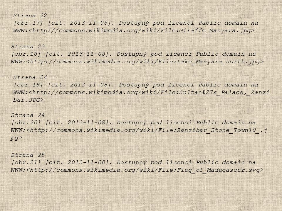 Strana 22 [obr.17] [cit. 2013-11-08]. Dostupný pod licencí Public domain na. WWW:<http://commons.wikimedia.org/wiki/File:Giraffe_Manyara.jpg>